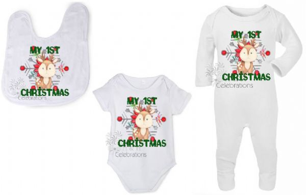My 1st Christmas Reindeer Personalised Gift Set